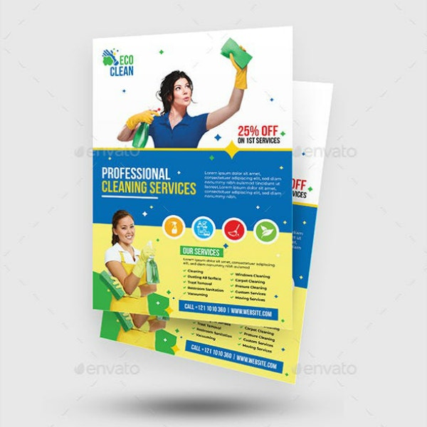 Professional Eco Cleaning Services Flyer