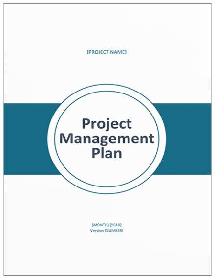 project management plan template mock up