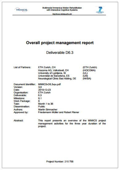 project management summary report