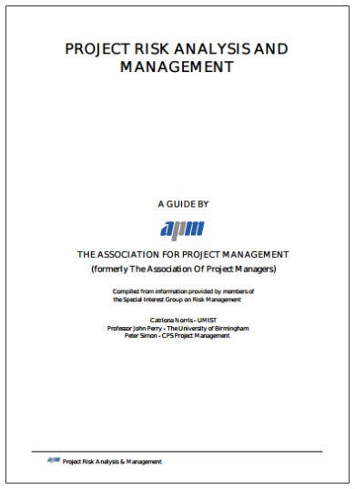 project risk analysis and management template1