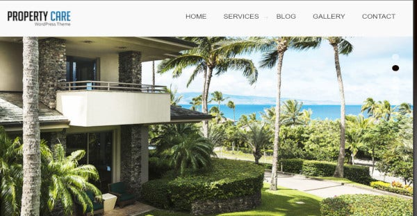 propertycare – seo friendly wordpress theme