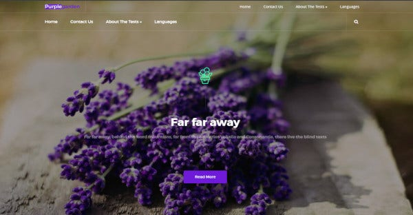 purplegarden – multilingual wordpress theme