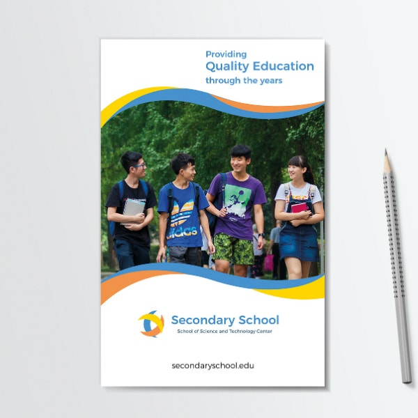 Quality Secondary Education Brochure Template