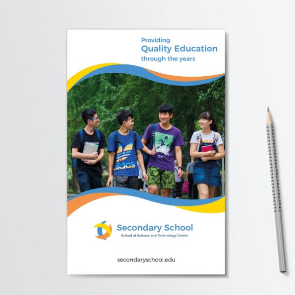 quality secondary school brochure template