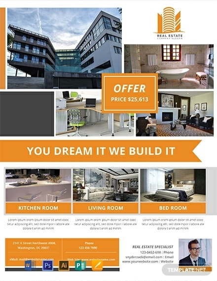 real estate agency flyer example