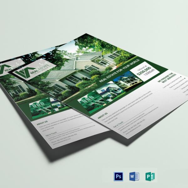 real estate agent flyer format