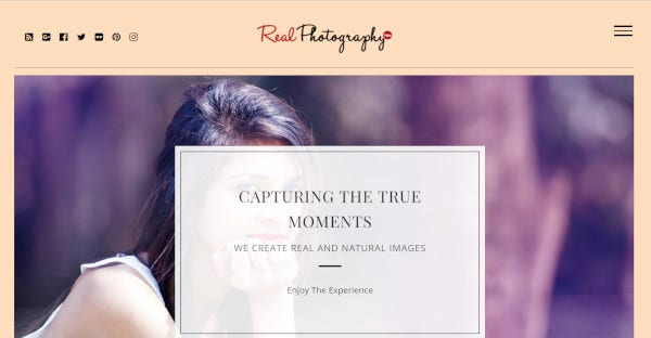 real photography – responsive wordpress theme