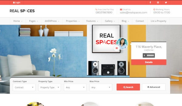 real spaces – retina ready wordpress themes