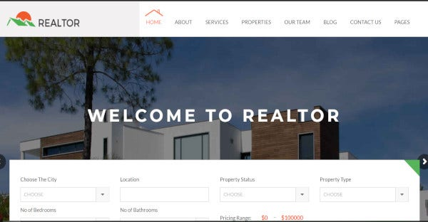 Realtor – Responsive WordPress Theme For Real Estate