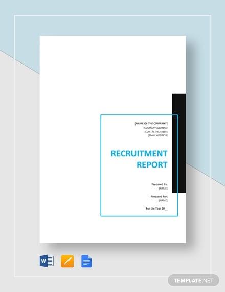 recruitment report