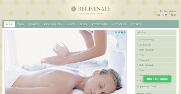 rejuvenate – wordpress theme for spa salon
