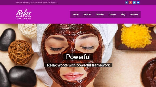 relax beauty – responsive wordpress theme