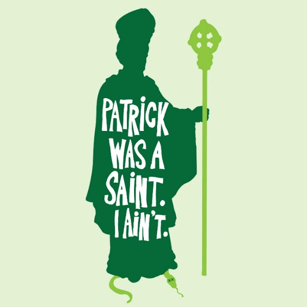 religious saint patrick quote card sample