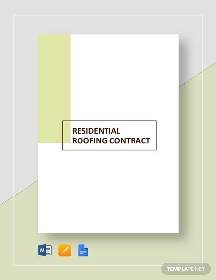 residential roofing contract 2