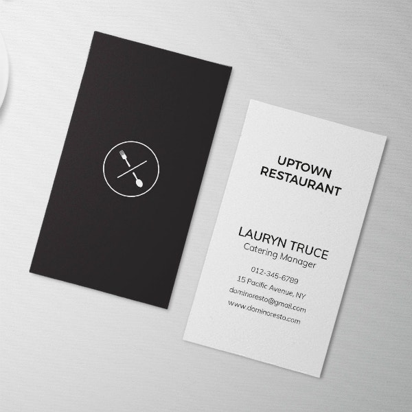 restaurant manager minimal business card