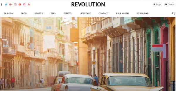 revolution – fully responsive wordpress theme