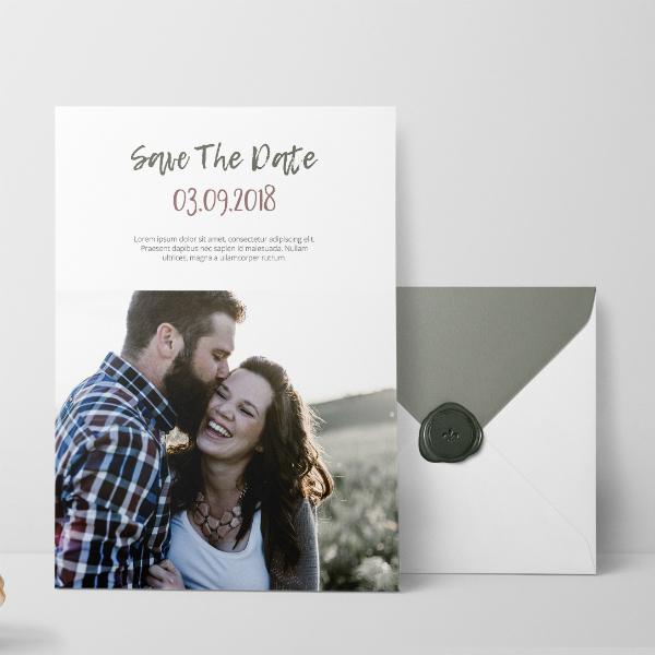 rich photo wedding invitation sample