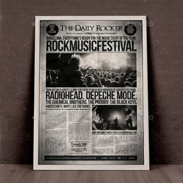 Rocker Newspaper Flyer Design