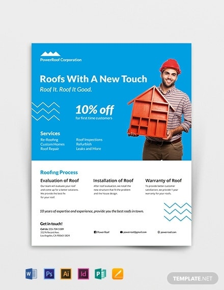 roofing flyer template 440x570 1
