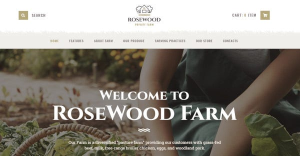 rosewood – woocommerce wordpress theme