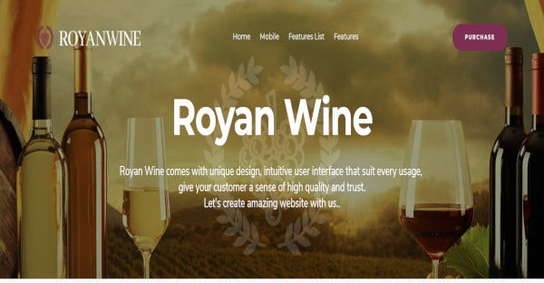 royanwine seo optimized wordpress theme