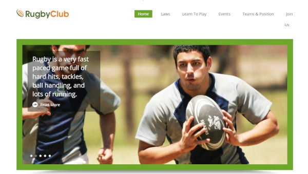 rugbyclub – responsive wordpress theme