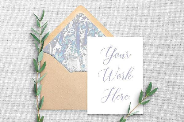 rustic card envelope template