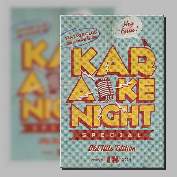 Rustic Karaoke Night Poster Format