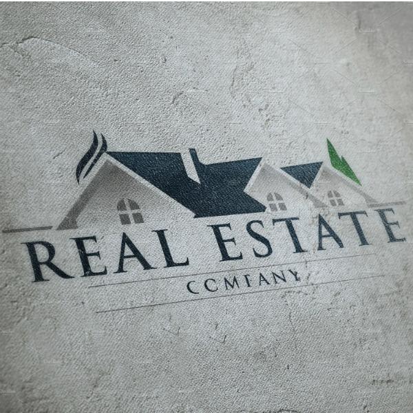 rustic real estate company logo