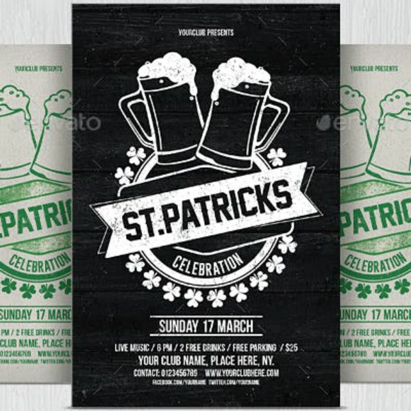 rustic st patricks day flyer example