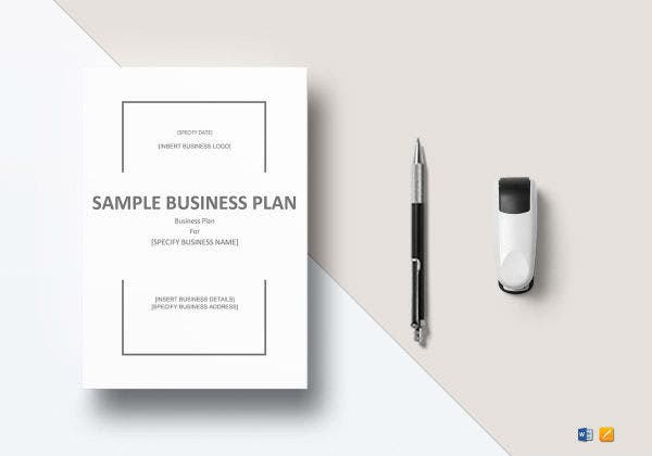 sample business plan mockup