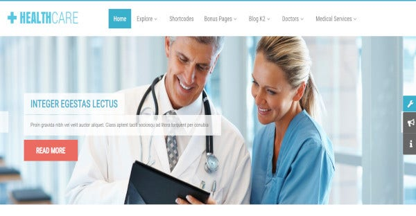 sj healthcare wordpress template