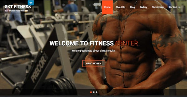 skt fitness pro unique wordpress theme
