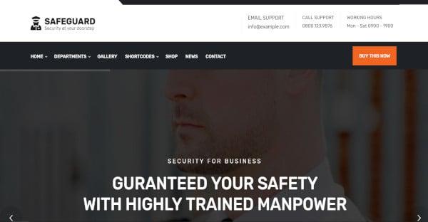 Safeguard - 550+ Block Options WordPress Theme