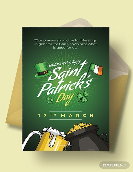 saint patricks day greeting card template