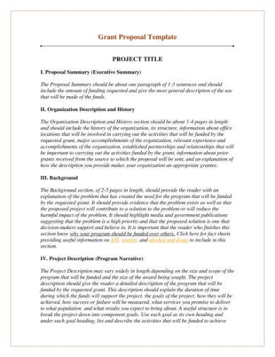 sample grant proposal template 1