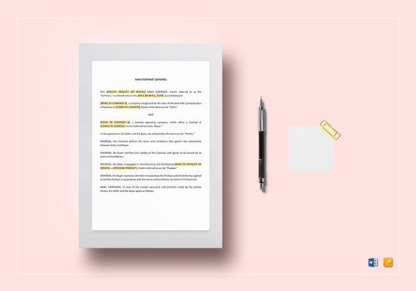 sample sales contract agreement template2