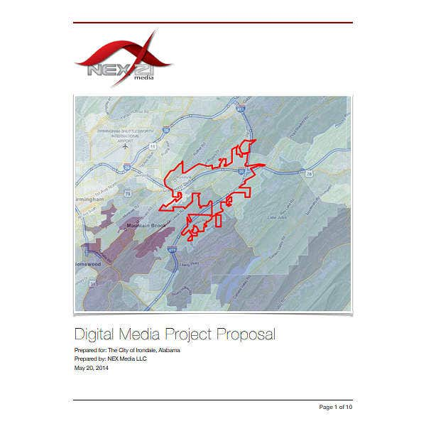 sample social media proposal
