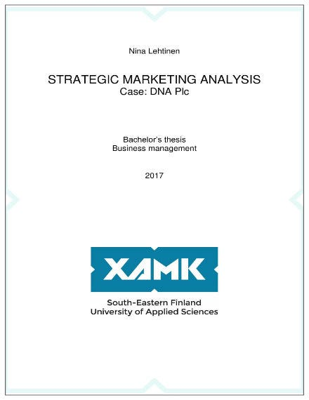 sample strategic marketing analysis 011