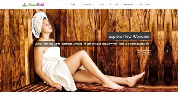 Sauna Bath- Spa and Salon WordPress Theme