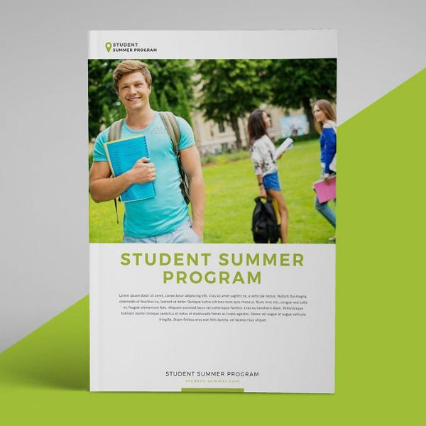 school summer program brochure design