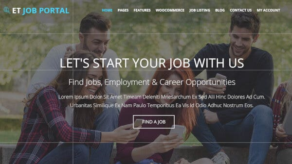 ET Job Portal - Powerful Genesis Framework Supported WordPress Theme