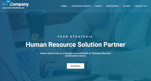 HR Management – Animated WordPress Theme