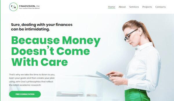 11. Finadvision – MotoPress Editor WordPress Theme
