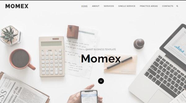 10. Momex – Coder Friendly WordPress Theme