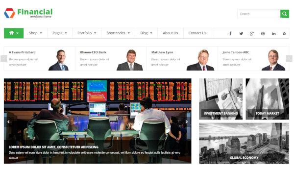 14. SW Financial – WooCommerce Plugin WordPress Theme