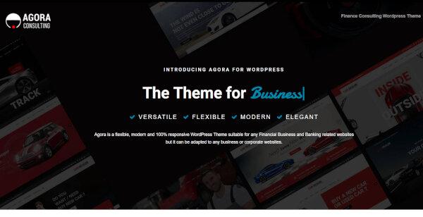 21. Agora – Fully Responsive WordPress Theme