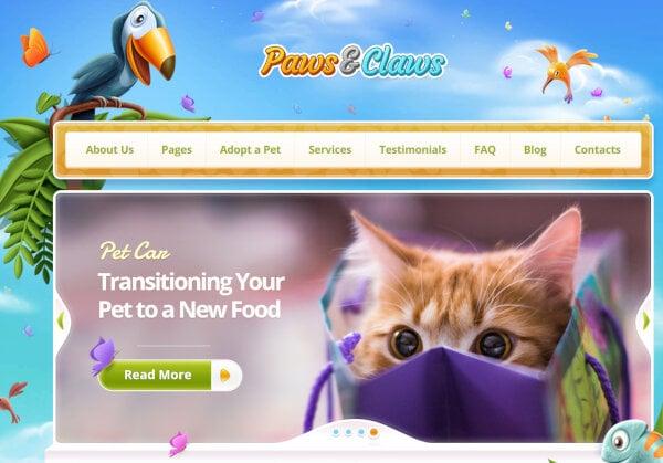 Paws & Claws – Child-Friendly WordPress Theme