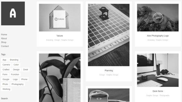 15. Althea/Grid Portfolio & Shop Theme- Masonry Grid Layout WordPress Theme