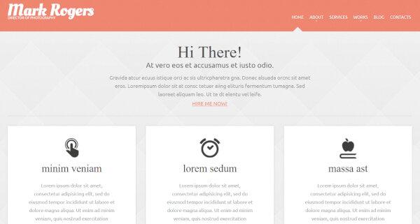 19. Photographer Portfolio – HTML & CSS Framework WordPress Theme